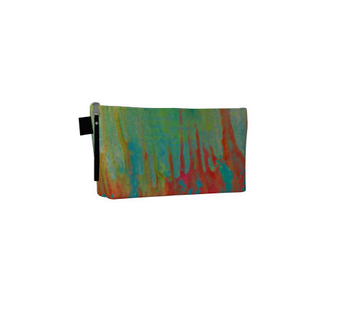Electric Rainbow, T-Bottom Canvas Clutch