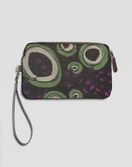 Take Your Time, Leather Clutch W/Strap