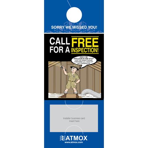 Door Hanger - Attic - Business Card Slot (100pk)