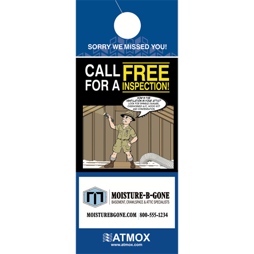 Door Hanger - Attic Option 1 - Custom Order (500pk)
