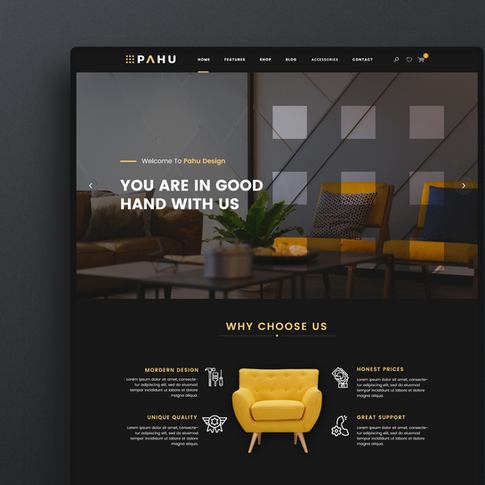 PAHU-Interior Website Template
