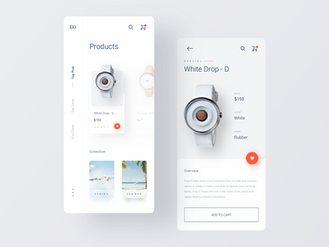 https://dribbble.com/shots/7032182-Watch-Shop-App