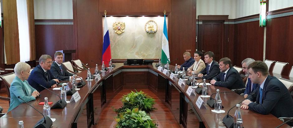Рабочая встреча с заместителем министра спорта России Одесом Байсултановым