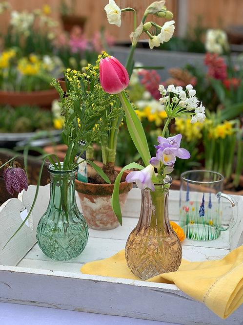 Pretty vintage style bottles vase