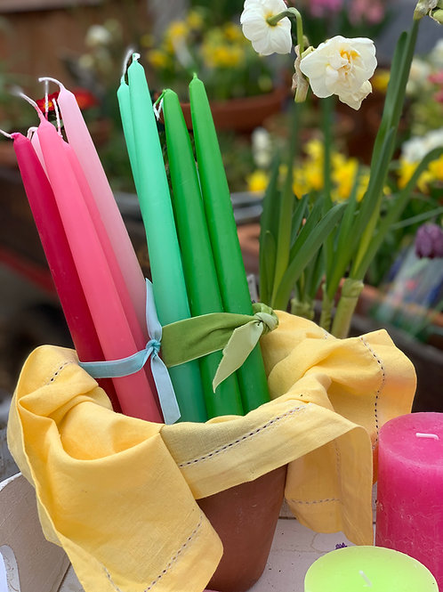 10hr Tapered Dinner Candles x6