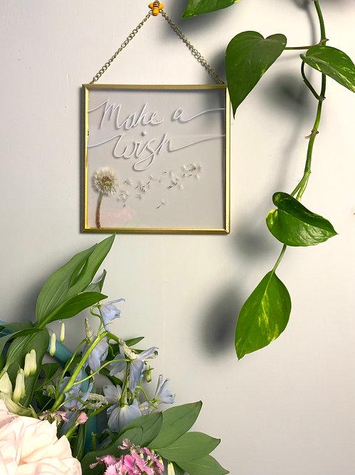Make a Wish Dandelion frame