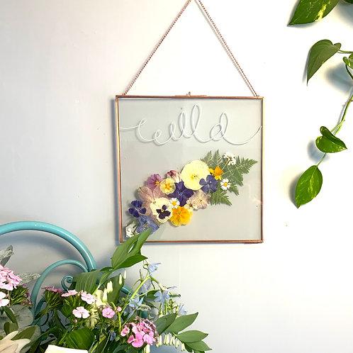Wild Press flower frame (white)