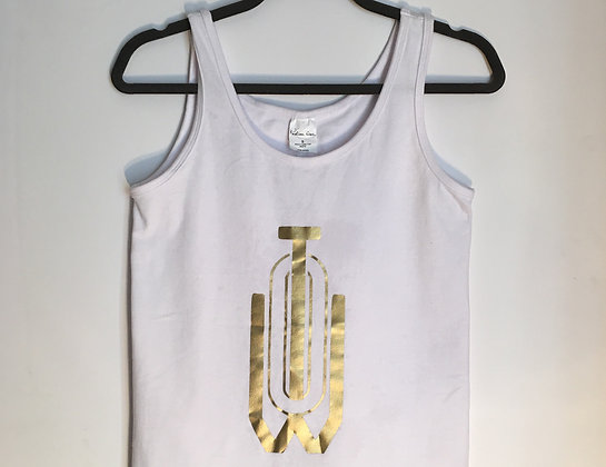 Out This World Ent. Womens Gold & White Tank