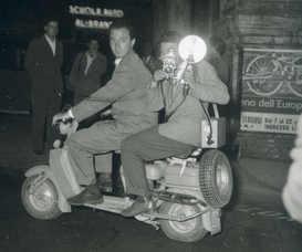 Tazio Secchiaroli and Luciano Mellace photographed by Giuseppe Pinna, Rome 1952