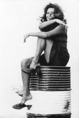 Sophia Loren during a break White, Red and... by Alberto Lattuada 1972