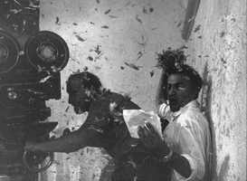Federico Fellini during the filming of 8 1⁄2, 1962