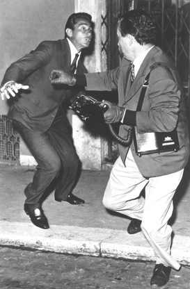 Walter Chiari and Tazio Secchiaroli photographed by Elio Sorci, Rome 1958