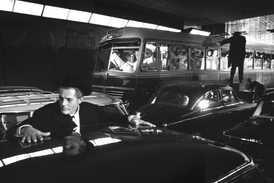 Marcello Mastroianni and Federico Fellini on the set of 8 1⁄2, 1962