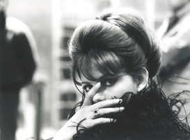 Claudia Cardinale, backstage 8 1⁄2,1962