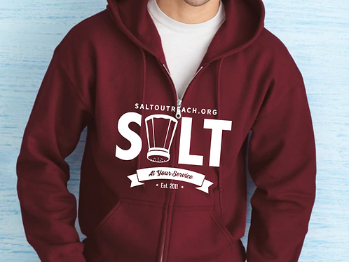 SALT Outreach Zippered Unisex Hooded Sweatshirt