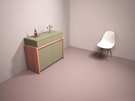 REMO : Sideboard + platzsparender Schreibtisch für das Home-Office in einem.