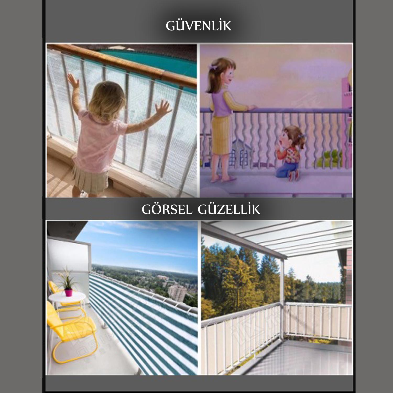 Tel Çit Brandası Branda Gölgelikler Balkon Demirlerine Gölgelik Branda   1,5X5