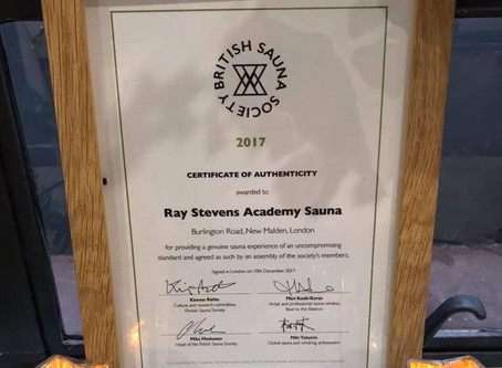 Finnish sauna certificate of authenticity at RSA