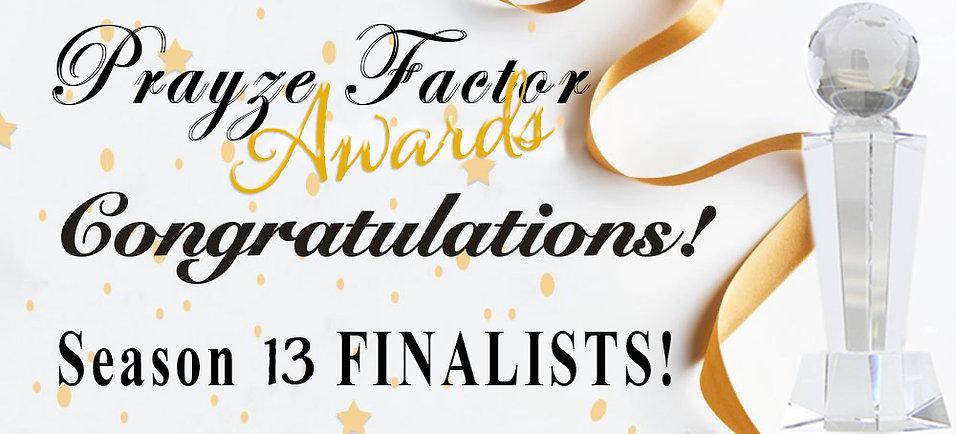 Prayze Factor Season 13 Finalists CONGRA
