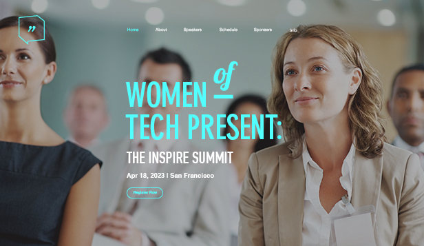 Eventer website templates – Women's Conference