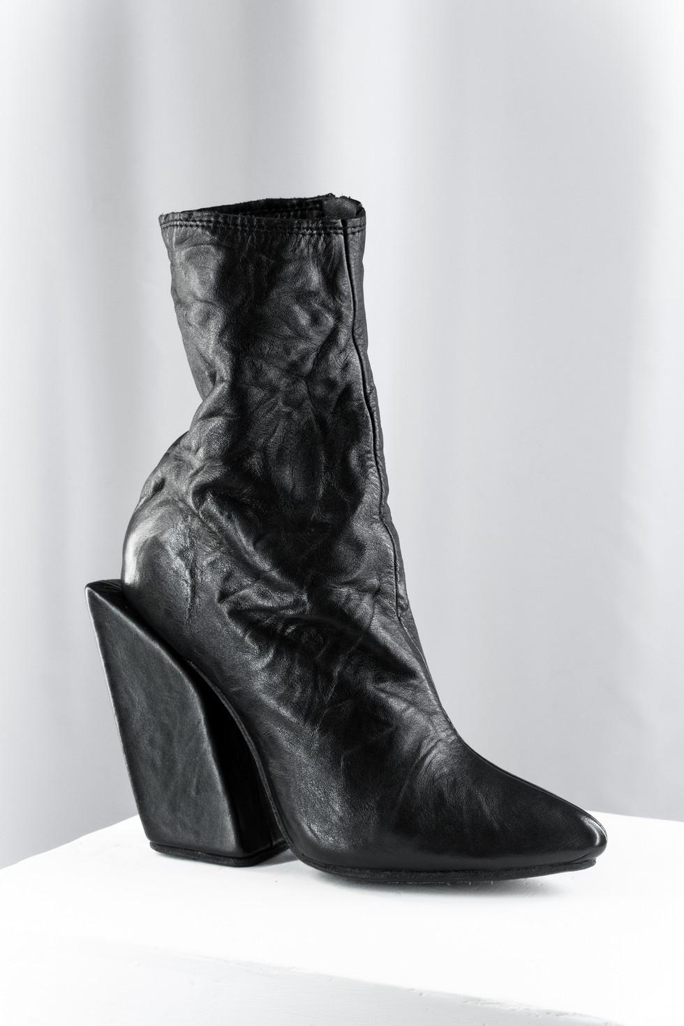 Slanted Block heel Boots