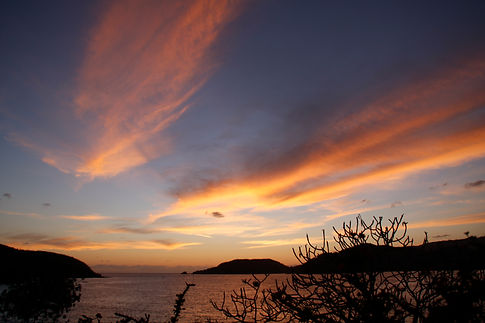 Sunset view from our patio.JPG