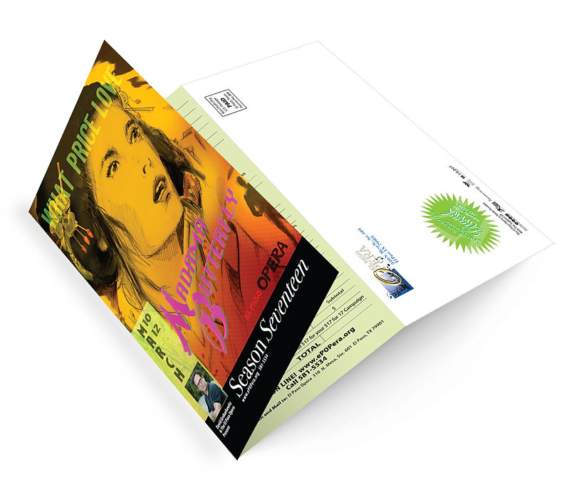 El Paso Opera Madama Butterfly mailer