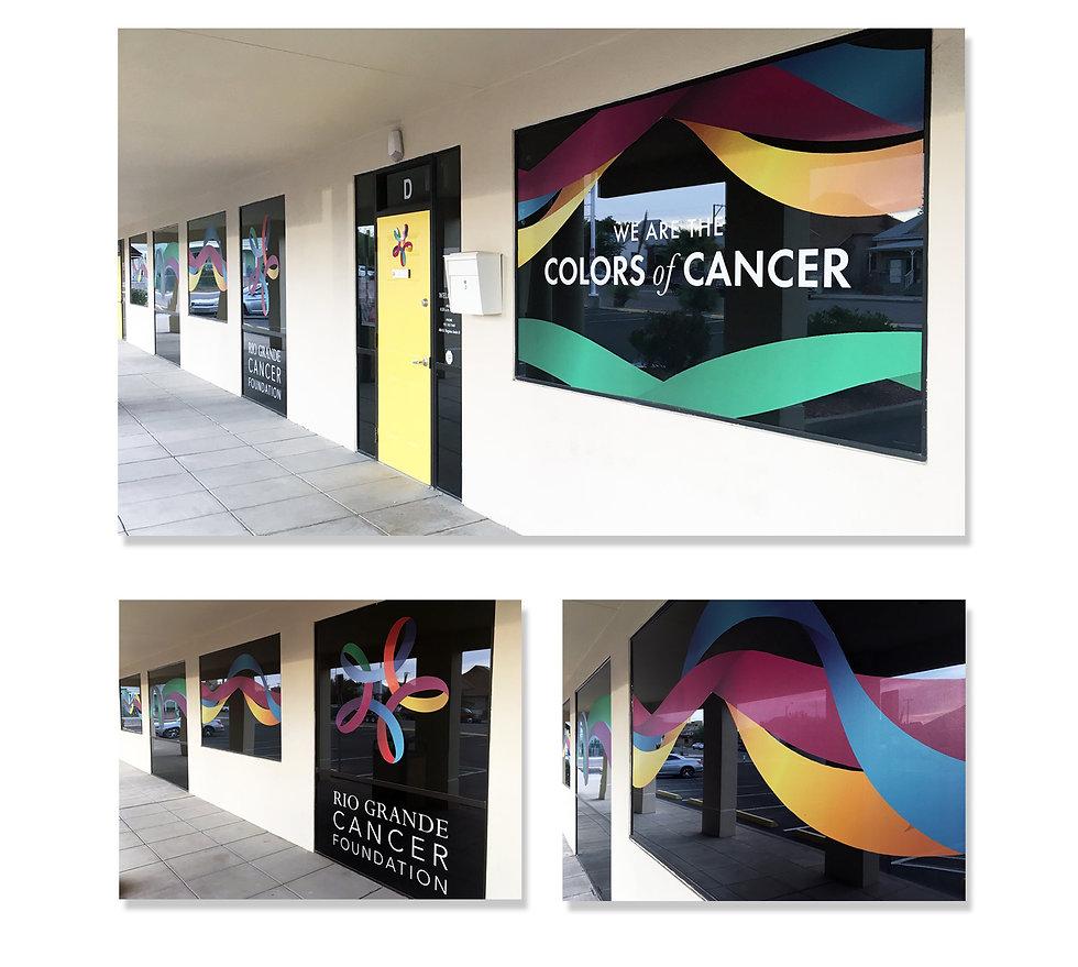 Rio Grande Cancer Foundation window graphics