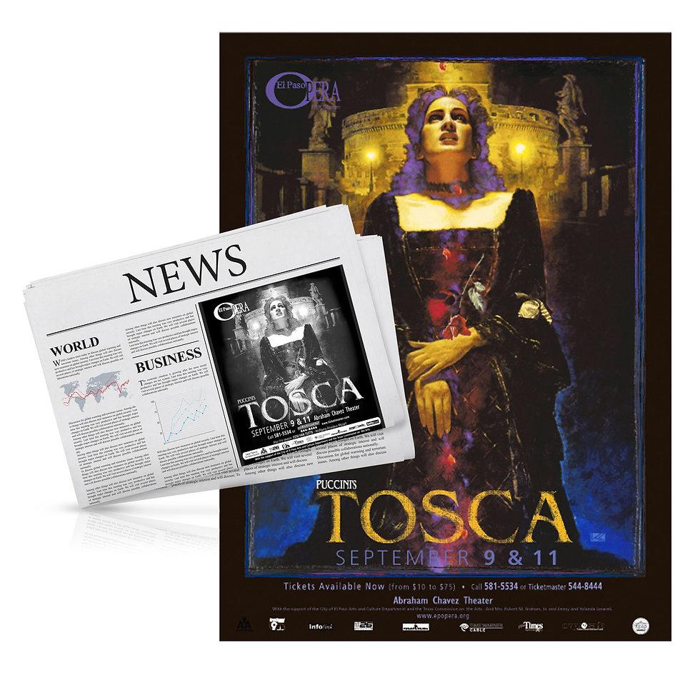 El Paso Opera Tosca advertisement