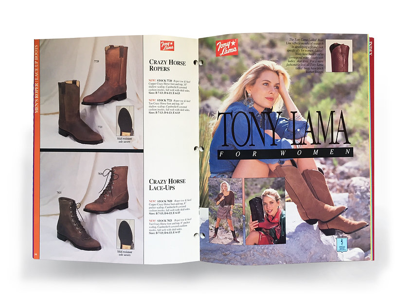 Tony  Lama women's footwear catalogue