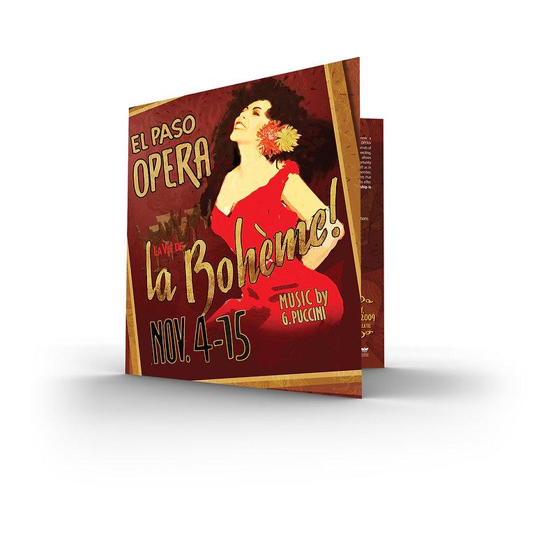 El Paso Opera La Bohéme brochure