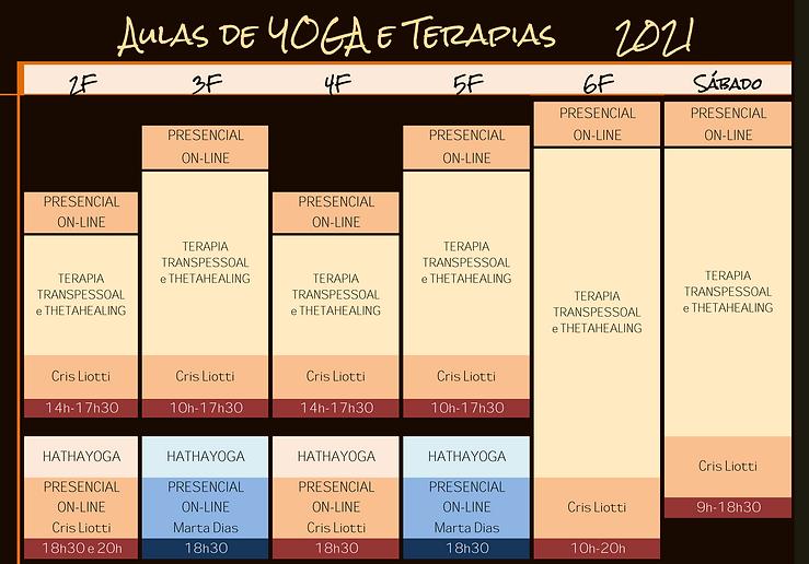 Horário Yoga e Terapias 2021 - Junho e J