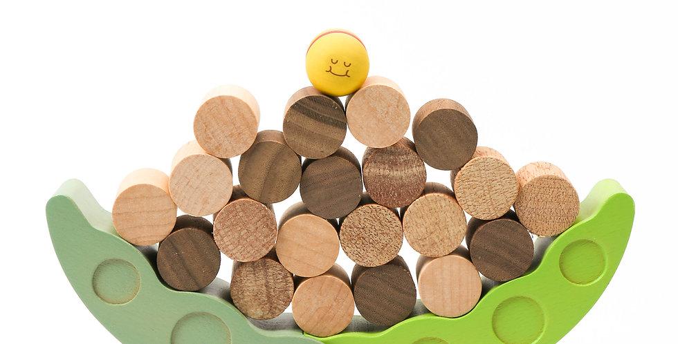 board game, educational, children, worm, wood blocks, green, caterpillar, spin wheel, wooden bricks,