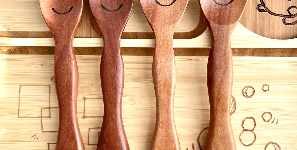 Wooden Fork and Spoon for Kids