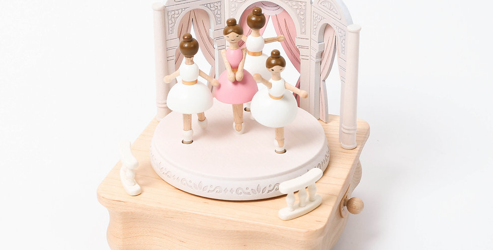 Ballerina Wooden Music Box
