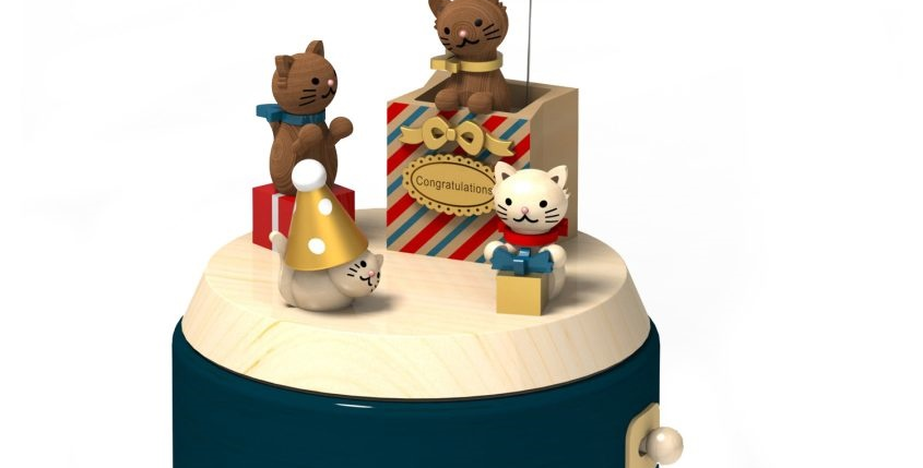 Cat Gift Blessing Music Box