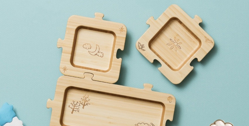 Bamboo Jigsaw Plate For Kids - Puzzles