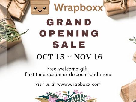 Wrapboxx Grand Opening Announcement