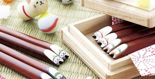 Animal Wooden Chopstick Rest Set (4 pcs)