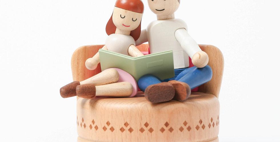 Sweet couple Wooden Music Box