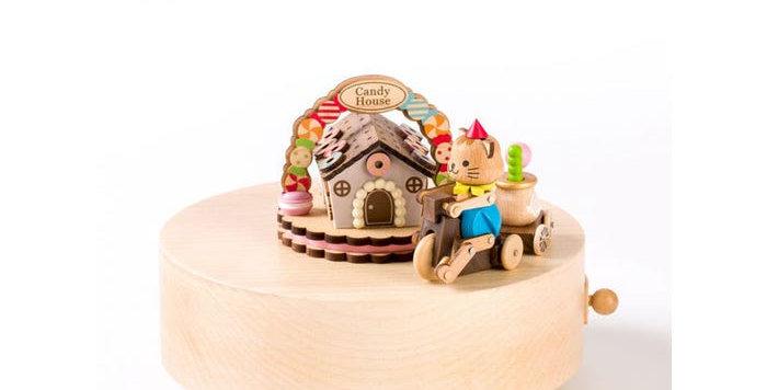 Candy Kitty House Music Box
