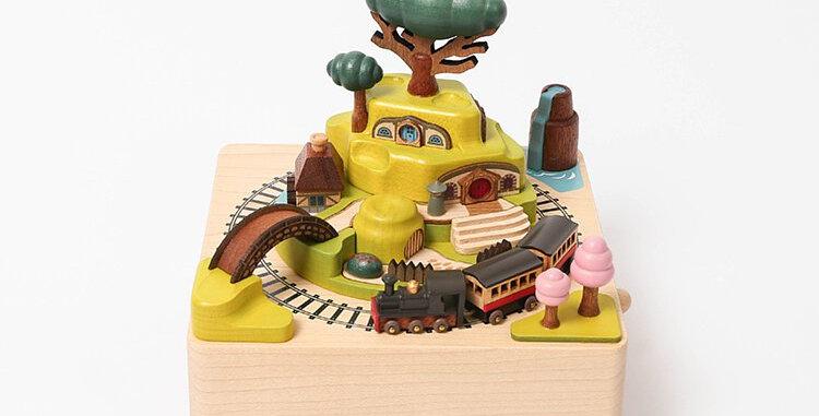 Spring Train Wooden Music Box