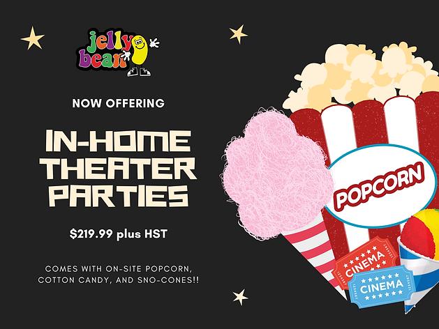 Black  and Cream Movie Night Invitations
