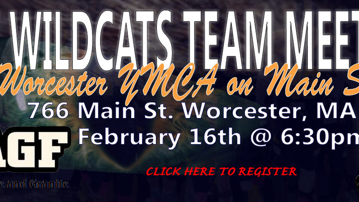 Wildcats Meeting on February 16th @ Worcester Main St. - YMCA