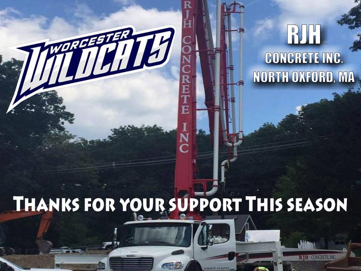 Latest Sponsor - RJH Concrete Inc.
