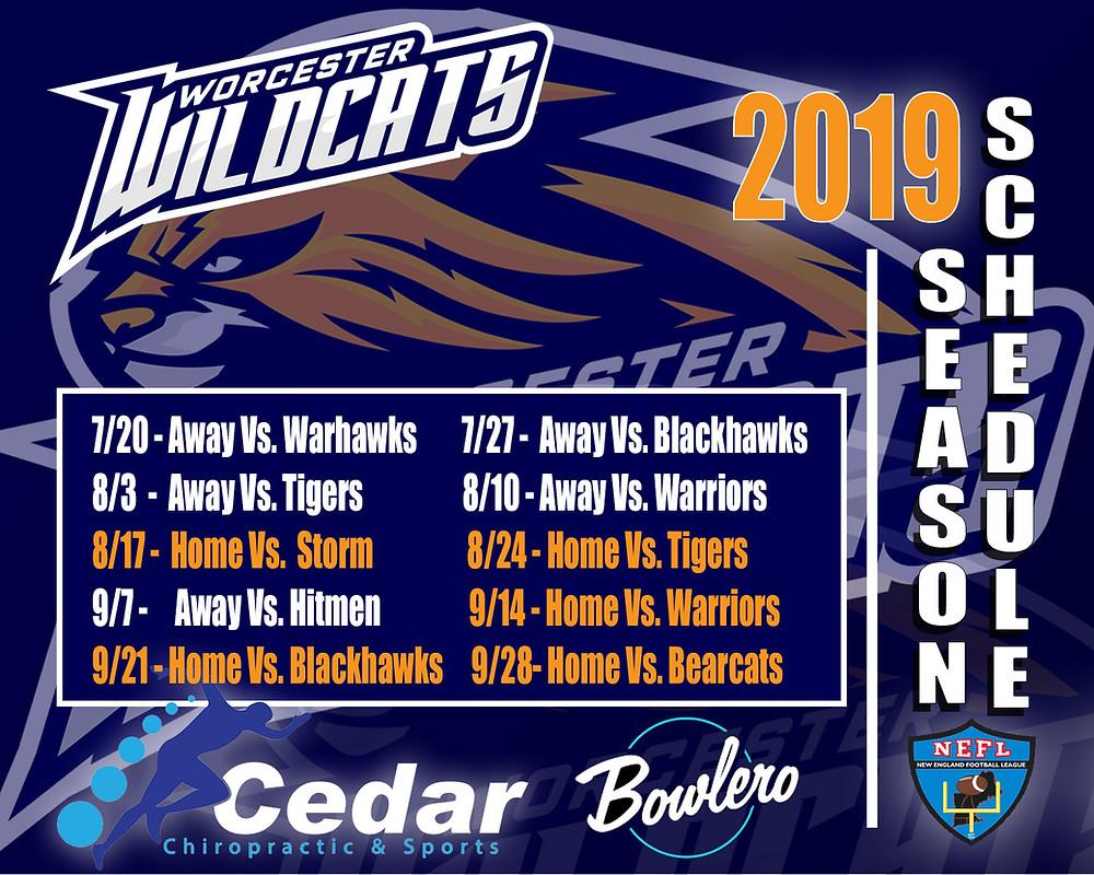 2019 Wildcats Schedule