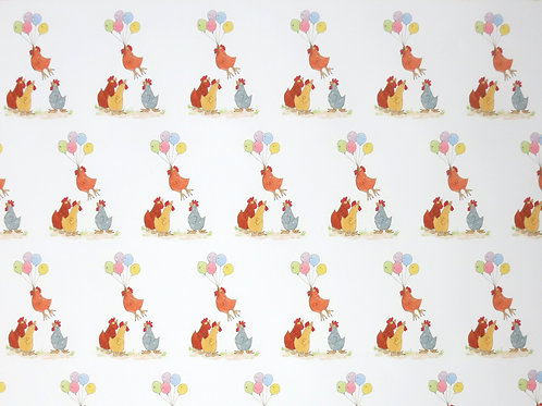 Chicken Balloon Wrapping Paper
