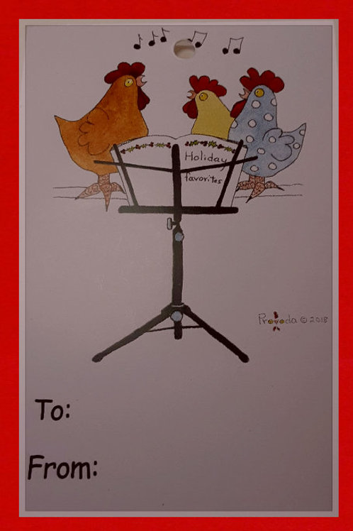 Chicken Holidays Tag Pack of 6