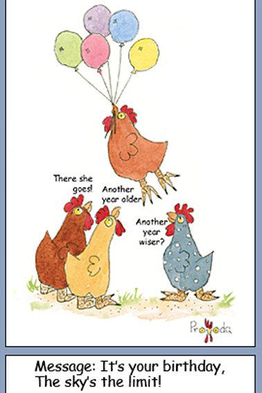 Chicken Birthday Balloons
