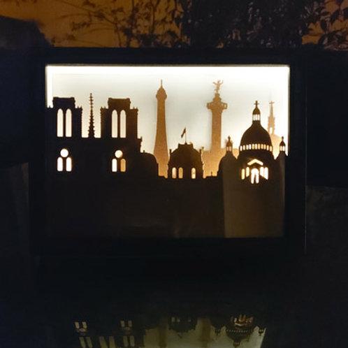 cadre Lumineux Paris hommage Notre Dame
